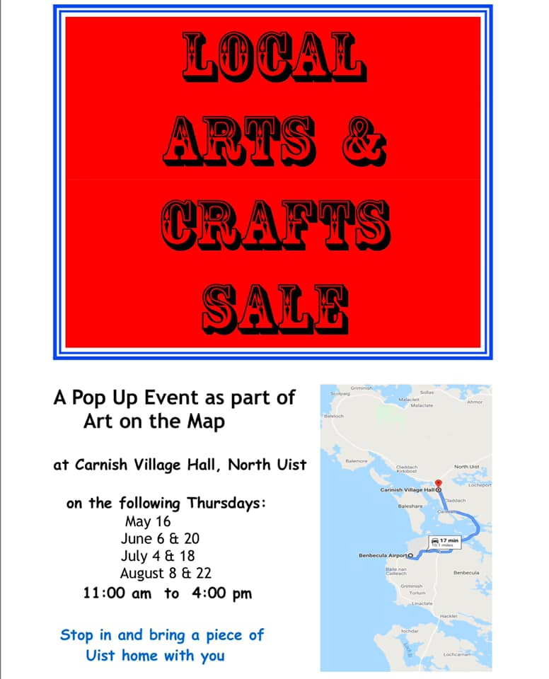 Hebridean Imaging Art and Craft markets Uist 2019