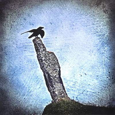 raven standing stone south uist hebridean imaging yvonne benting